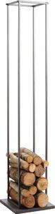 Aubry-Gaspard - grand porte-bûches en métal 34x34x160cm - Kaminholzhalterständer