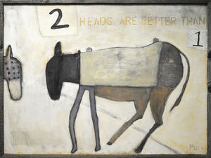 Sugarboo Designs - art print - two heads are better - Dekobilder