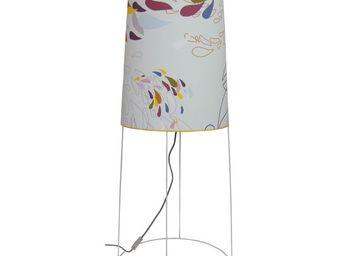 ATELIER R.BERNIER - grande lampe de salon pluie d'ete - Tischlampen