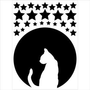 ALFRED CREATION - sticker velours - nuit céleste - Gummiertes Papier