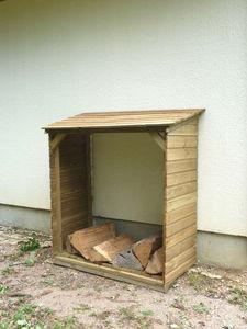 Cihb - abri bucher en pin traité 120x60x140cm - Kaminholzregal