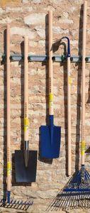 Outils Perrin - porte outils mural sur rail 5 crochets 90x7,5x5,5c - Gartenwerkzeugschrank