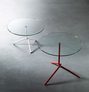 PAOLO CAPPELLO - fil side tables - Runder Couchtisch