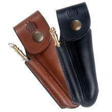 Laguiole Actiforge - etui pour laguiole en cuir forme avec fusil a affu - Messeretui