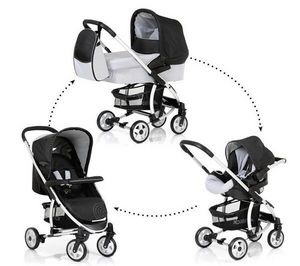 HAUCK - pack poussette trio malibu all in one - caviar/sil - Buggy