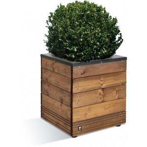JARDIPOLYS - bac à fleurs en bois et métal 63 l jardipolys - Blumenkübel
