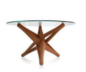 PLANKTON avant garde design - lock bamboo dining table - Runder Esstisch