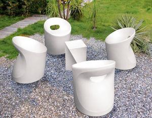 WILSA GARDEN - salon de jardin design en polyéthylène blanc - Gartengarnitur