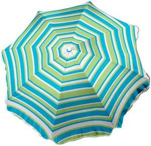 WDK Groupe Partner - parasol de plage 180cm avec pied vrillé en polyest - Sonnenschirm