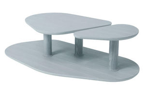 MARCEL BY - table basse rounded en chêne gris agathe 119x61x35 - Originales Couchtisch