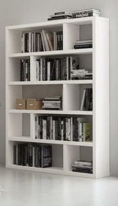 TemaHome - dublin 10 casiers bibliothèque étagère laquée blan - Bibliothek