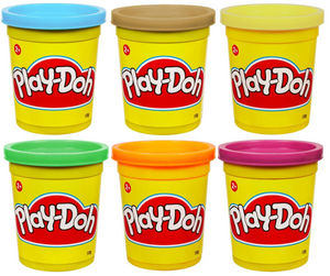 HASBRO - 6 pots de pâte à modeler play-doh couleurs claires -