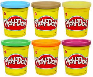 HASBRO - 6 pots de pâte à modeler play-doh couleurs claires - Modelliermasse