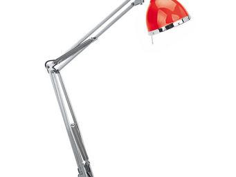 SEYNAVE - cynthia - lampe d'architecte rouge/chrome   lampe - Schreibtischlampe