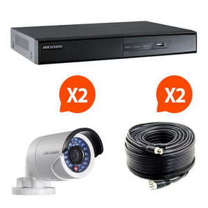 HIKVISION - video surveillance pack 2 caméras kit 1 hik vision - Sicherheits Kamera