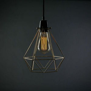 Filament Style - diamond 1 - suspension or câble noir ø18cm | lampe - Deckenlampe Hängelampe