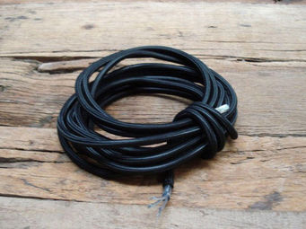 UTTERNORTH - cable textile noir - Stromkabel