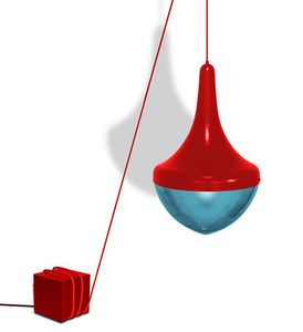 BIENVENUE 21 - toupy rouge - Deckenlampe Hängelampe