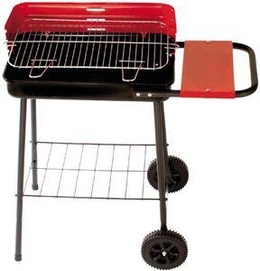Dalper - barbecue sur roulettes avec tablette latérale - Holzkohlegrill