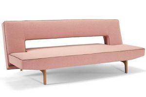 INNOVATION - canapé design puzzle wood soft corail convertible  - Klappsofa