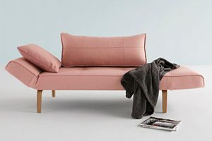 INNOVATION - canape lit design zeal convertible 200*70 cm rouge - Liegesofa