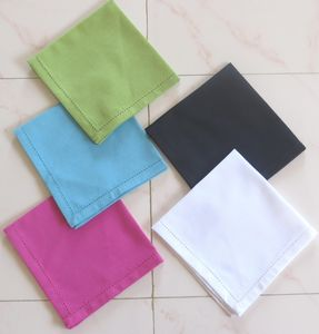 ITI  - Indian Textile Innovation - solids with hemstitch - Tisch Serviette