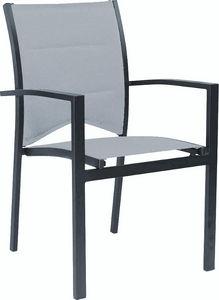 WILSA GARDEN - fauteuil de jardin modulo gris - Gartensessel