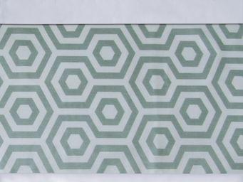 BAILET - ornement graphique - symphonie - 260x37 cm - vert  - Bettwäsche