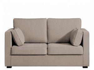 Home Spirit - canapé fixe palerme petit 2 places tissu tweed bei - Sofa 2 Sitzer