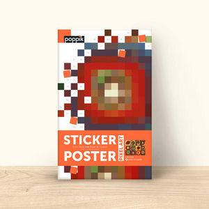 POPPIK - etude des couleurs - Gummiertes Papier