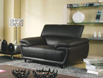 WHITE LABEL - fauteuil en cuir baya - Sessel