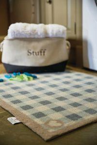 HUG RUG - tapis en fibres naturelles à motif vichy 65x85 cm - Fussmatte