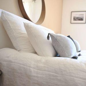 MAISON D'ETE - taie d'oreiller en lin lavé blanc - Kopfkissenbezug