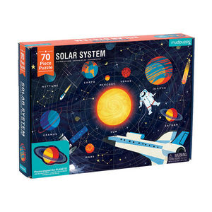 BERTOY - 70 pc geography puzzle solar system - Kinderpuzzle