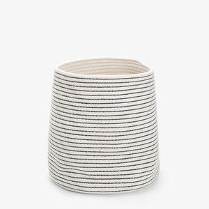 Zara Home - corbeille en coton - Badezimmermulleimer