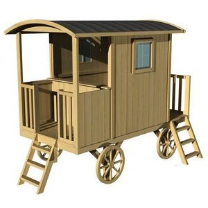 SOULET -  - Holzwohnwagen