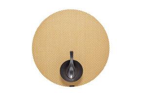 CHILEWICH - basketweave gilded round - Tischset