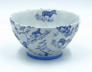 Porcelaines Saint-Thamar - safari bleu - Frühstücksschale