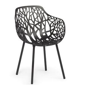 FAST - forest - chaise à accoudoirs en aluminium - Gartensessel