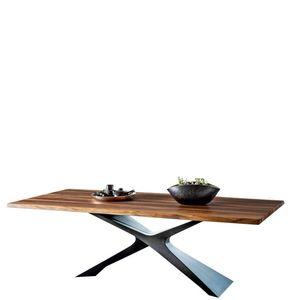 Midj - nexus - table plateau noyer coupe organique 250 x1 - Rechteckiger Esstisch