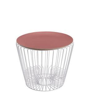 HARTÔ - ernest - table d'appoint blanche ø49 cm - Runder Couchtisch