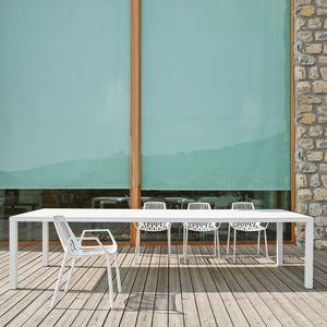 FAST - easy - table en aluminium blanc 300 x 100 cm - Gartentisch