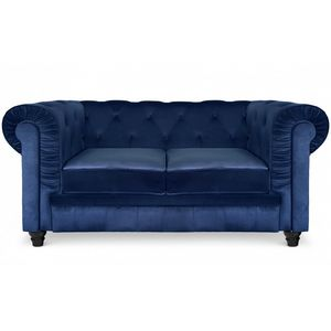 DECO PRIVE - canapé chesterfield 2 places rouge - Chesterfield Sofa