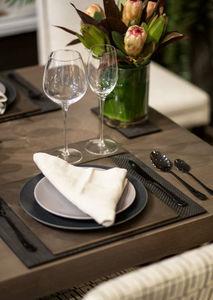 POSH - placemat faux boa charcoal - Tischset