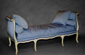 Bauermeister Antiquités - Expertise - lit de repos ottomane louis xv - Recamiere