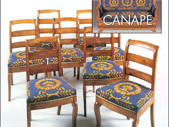 Antoine Gossart - 8 chaises et un canapé - Sitzgruppe