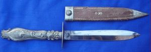 Cedric Rolly Armes Anciennes - petite dague romantique - Dolch