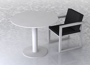 swanky design - cruz dining table set - Rundes Gartentisch