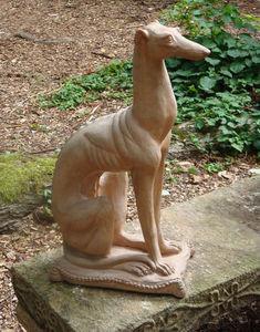 BARBARA ISRAEL GARDEN ANTIQUES - art moderne greyhound - Tierskulptur