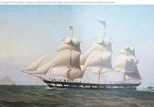 CALTON GALLERY - the ship ?daniel rankin? off ailsa craig, entrance - Ölgemelde Auf Leinwand Und Holztafel